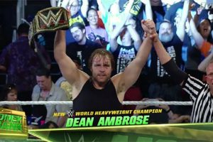 Dean Ambrose Wins Money In The Bank Contract & the WWE Title